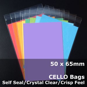 #PR5065 - 50x65mm Crystal Clear Cello Bags