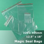 "#MB412518 - 320x455mm (12.5"" x 18"") Magic Seal Poly Bag"