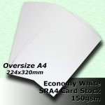 #H5109 - Economy White Card 150gsm SRA4 (OverSize A4)