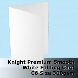#H6522A - C6 Scored Cards Knight Smooth Finish White Card 300gsm