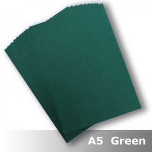 D8405 Leathergrain Card A5 270gsm Green