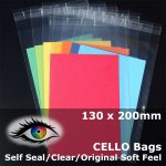 #PA5258 - 130x200mm Soft Feel Cello Bags