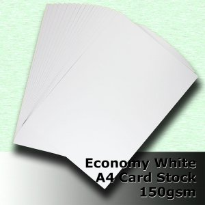 #H5108 - Economy White Card 150gsm A4 Size