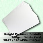 #H6469 - Knight Smooth Finish White Card 280gsm SRA3 Size (A3+)