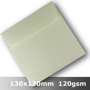 #H8477 - Smooth Ivory Envelope 120gsm 130mm Square WLnS