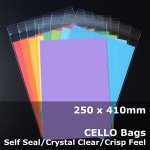 #PR250410 - 250x410mm Crystal Clear Cello Bags