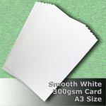 #H7368 - Smooth Finish White Card 300gsm A3 Size