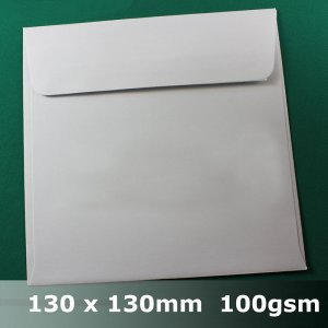 "GOLD OR SILVER   5.1/"" x 5.1/"" 50  130mm x 130mm SHIMMER ENVELOPES  WHITE"