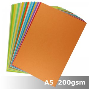 Variety Pack #C021 - A5 200gsm Card - 20 Colours