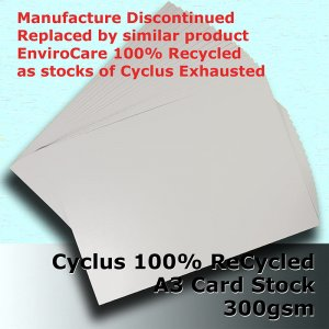 #S3168 - Cyclus 100% ReCycled White Card A3 300gsm