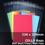 #PA913 - 230x330mm Soft Feel Cello Bags