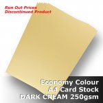 #H3008 - Economy Card DARK CREAM 250gsm A4 Size