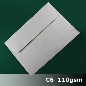 E26CS - C6 (114 x 162mm) White Envelope 110gsm WPnS