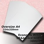 #H5509 - Economy White Card 300gsm SRA4 (OverSize A4)
