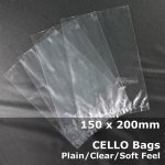 #PM150200 - 150x200mm Plain Clear Cello Bags