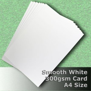 #H7308 - Smooth Finish White Card 300gsm A4 Size