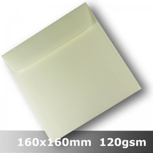 #H8476 - Smooth Ivory Envelope 120gsm 160mm Square WLnS