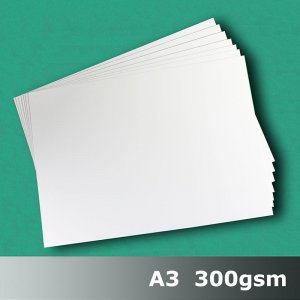 #H7268 - Cast Coat (Gloss) White Card 300gsm A3 Size