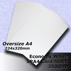 #H5309 - Economy White Card 250gsm SRA4 (OverSize A4)