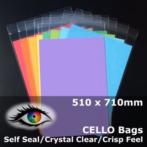 #PR510710 - 510x710mm Crystal Clear Cello Bags