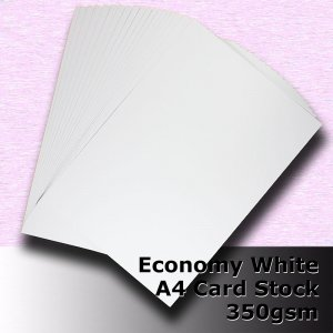 #H5608 - Economy White Card 350gsm A4 Size