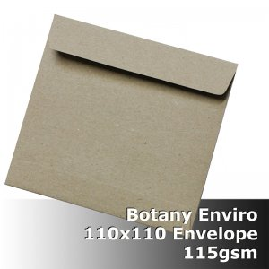 #S5175 Botany Enviro Envelope 115gsm 110mm Square