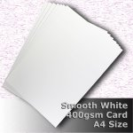 #H7508 - Smooth Finish White Card 400gsm A4 Size