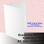 #H5624A - A6 Scored Cards Economy White Card 350gsm