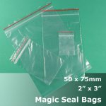 "#MB423 - 50x75mm (2"" x 3"") Magic Seal Poly Bag"