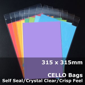 #PR315315 - 315x315mm Crystal Clear Cello Bags