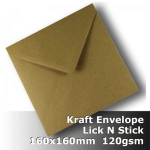 #S0276 KRAFT Envelope 120gsm 160mm Square