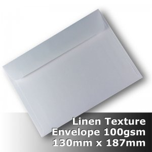 #H6089 - Linen Finish Envelope 100gsm 130x187mm WPnS
