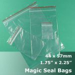 "#MB4175225 - 44x57mm (1.75"" x 2.25"") Magic Seal Poly Bag"