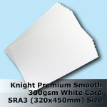 #H6569 - Knight Smooth Finish White Card 300gsm SRA3 Size (A3+)
