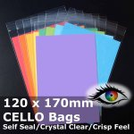 #PR120170 - 120x170mm Crystal Clear Cello Bags