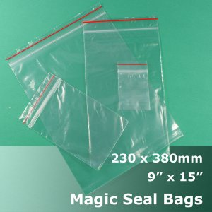 "#MB4915 - 230x380mm (9"" x 15\"") Magic Seal Poly Bag"