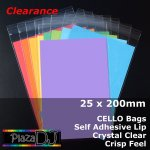 #PR25200 - 25x200mm Crystal Clear Cello Bags