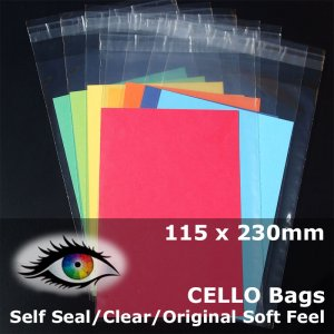 #PA45588 - 115x230mm Soft Feel Cello Bags