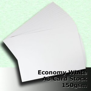 #H5168 - Economy White Card 150gsm A3 Size