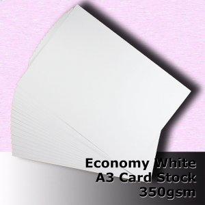 #H5668 - Economy White Card 350gsm A3 Size