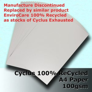 #S3111 - Cyclus 100% ReCycled White A4 100gsm