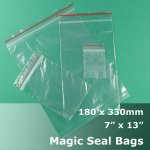"#MB4713 - 180x330mm (7"" x 13"") Magic Seal Poly Bag"