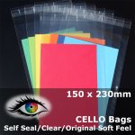#PA69 - 150x230mm Soft Feel Cello Bags