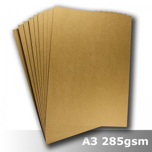 #S1568 Buffalo Board Natural Brown 285gsm A3