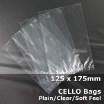 #PM125175 - 125x175mm Plain Clear Cello Bags