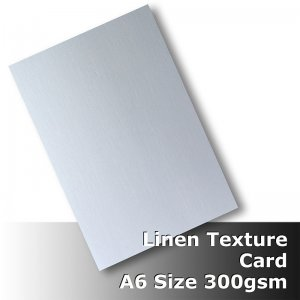#H6002 - Linen Finish Card 300gsm A6 Size