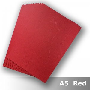 D8905 Leathergrain Card A5 270gsm Red