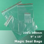 "#MB4915 - 230x380mm (9"" x 15"") Magic Seal Poly Bag"
