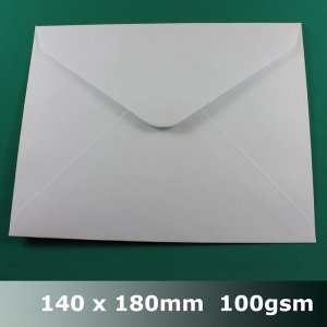E42AH - 140 x 180mm White Envelope 100gsm BLnS