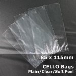#PM85115 - 85x115mm Plain Clear Cello Bags
